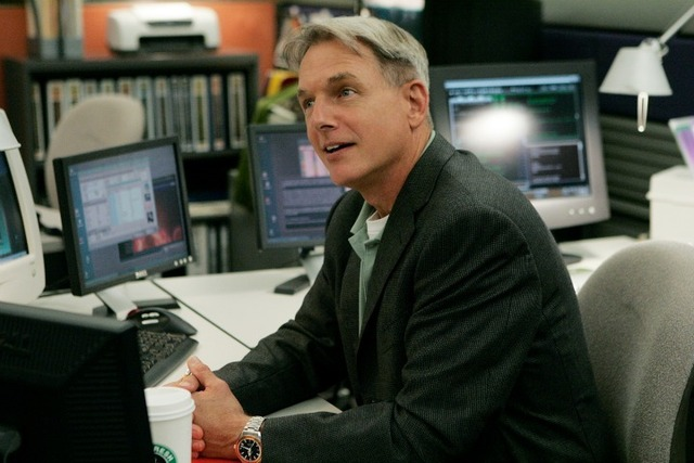 NCIS Special Agent Gibbs sat at his desk