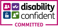 Write Again Disability Confident Committed badge