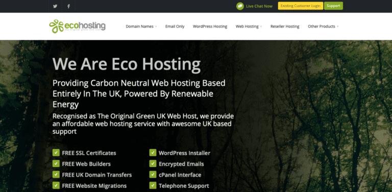Eco Hosting screenshot